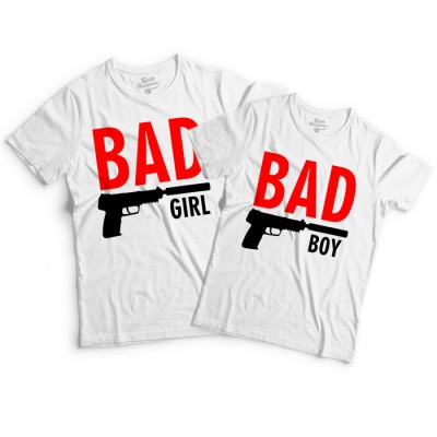 "Парные футболки П+Х ""Bad Boy & Girl"""